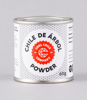 De Arbol Chilli Powder 60g - note this batch is milder