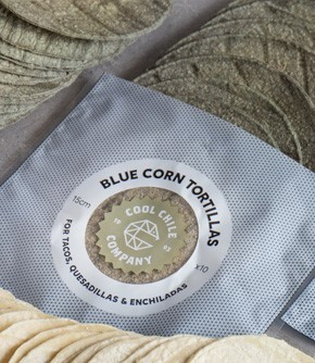 Soft Blue Corn Tortillas 15cm  (10)