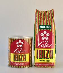 Ibiza Coffees Bundle: 100% Arabica Ground 250g tin with refill