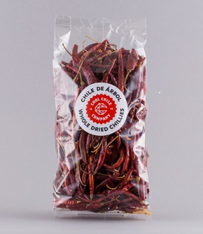 De Arbol Chillies 100g